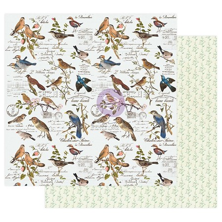 "Prima - Nature Lover Collection - Where The Birds Meet 12""x12"" paper"