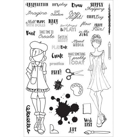 Prima - Julie Nutting Planner Stamps - Craft Day