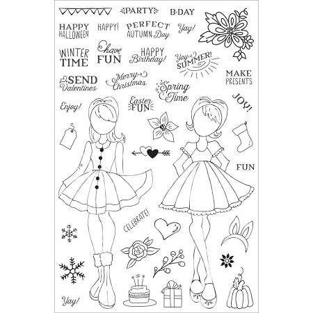 Prima - Julie Nutting Planner Stamps - Holiday Bliss