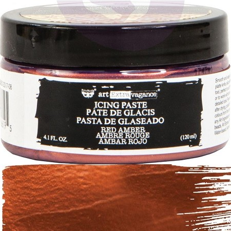 Prima - Finnabair Art Extravagance Icing Paste - Red Amber