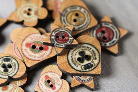 Prima-Wooden Buttons-Quirky