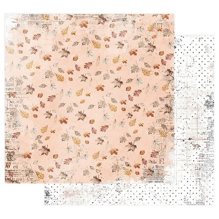 "Prima - Pumpkin & Spice Collection - Crunchy Leaves 12""x12"" paper"