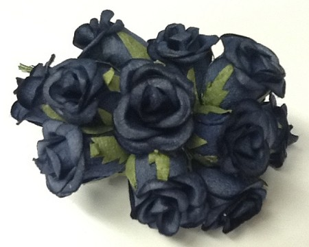 "Prima Roses - Special Purchase - 7/8""  Rose   (12 pieces) -Dark Blue"