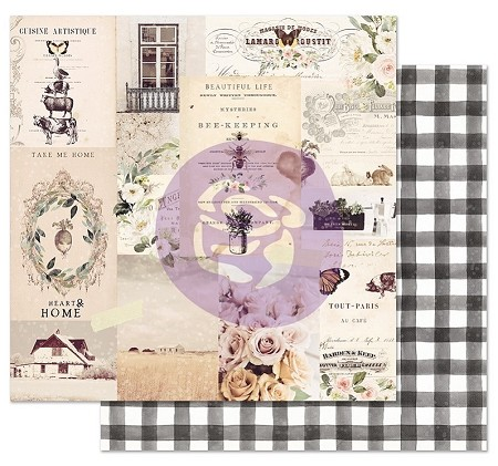 "Prima - Spring Farmhouse Collection - Beautiful life 12""x12"" Cardstock (foil accent)"