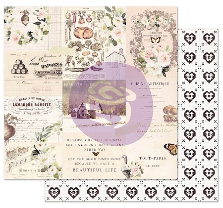 "Prima - Spring Farmhouse Collection - Wander 12""x12"" Cardstock (foil accent)"