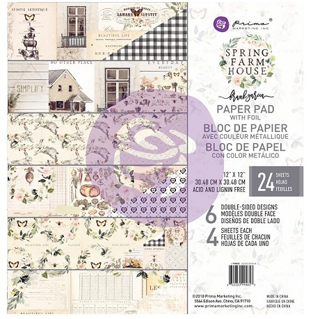 Prima - Spring Farmhouse Collection - 12x12 Paper Pad