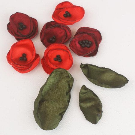 Prima - Poppy Flowers - Poppy & Leaves