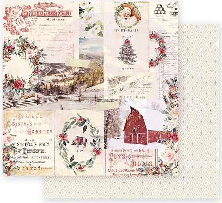 "Prima - Christmas In The Country Collection - Christmas Joy 12""x12"" paper"
