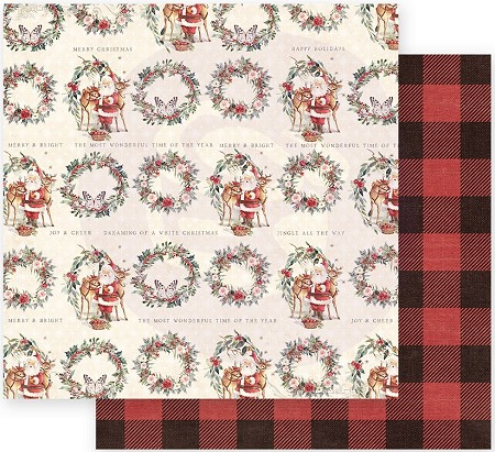 "Prima - Christmas In The Country Collection - Most Wonderful Time of the Year 12""x12"" paper"