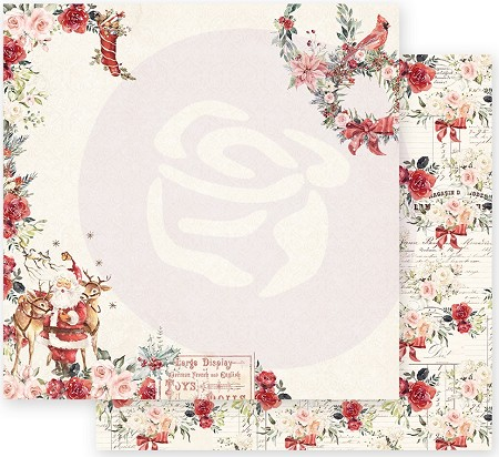 "Prima - Christmas In The Country Collection - Sweet Santa Claus 12""x12"" paper"