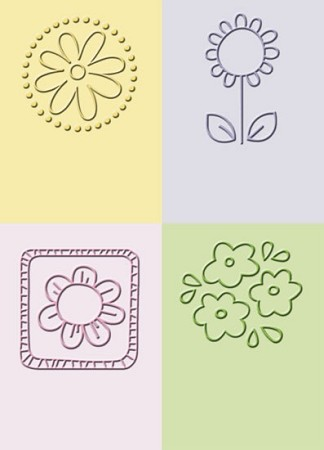 Cuttlebug Embossing Folder - Flowers