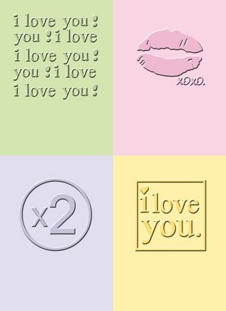 Cuttlebug Embossing Folder - I Love You
