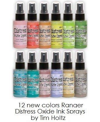 Ranger - Tim Holtz Distress Oxide Spray Ink - all 12 April 2019 new colors (SPECIAL 10% off regular price)