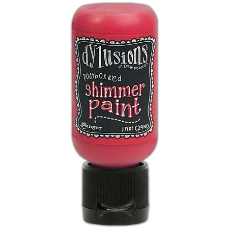Ranger - Dylusions Shimmer Paint - Postbox Red