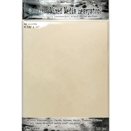 "Ranger - Tim Holtz Distress Mixed Media Heavyweight Cardstock (8.5""x11"" - 10 pcs)"