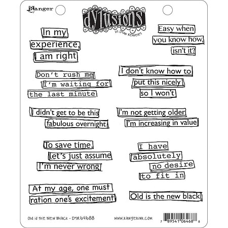 Dylusions - Cling Rubber Stamps - Old Is The New Black