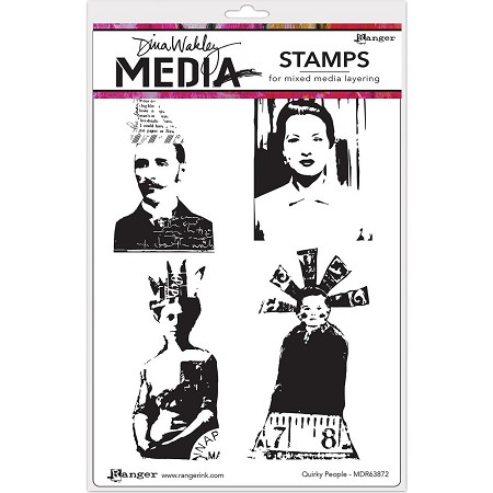 Stamper's Anonymous/Ranger - Dina Wakley Media - Cling Mounted Rubber Stamp Set - Quirky People