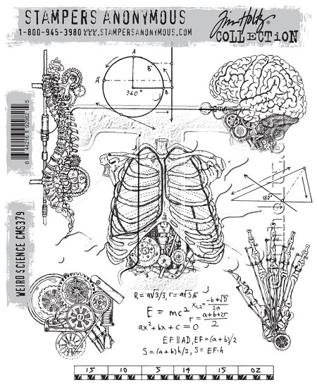 Stamper's Anonymous / Tim Holtz - Cling Mounted Rubber Stamp Set - Weird Science