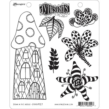 Dylusions - Cling Rubber Stamps - Down In The Woods