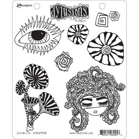 Dylusions - Cling Rubber Stamps - Ocean Life
