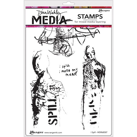Ranger - Dina Wakley Media - I Spill Cling Mounted Rubber Stamp Set