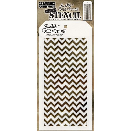 Stamper's Anonymous / Tim Holtz - Layering Stencil - Shifter Chevron