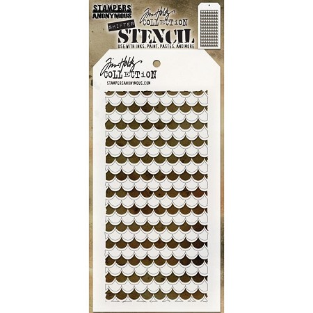 Stamper's Anonymous / Tim Holtz - Layering Stencil - Shifter Scallop