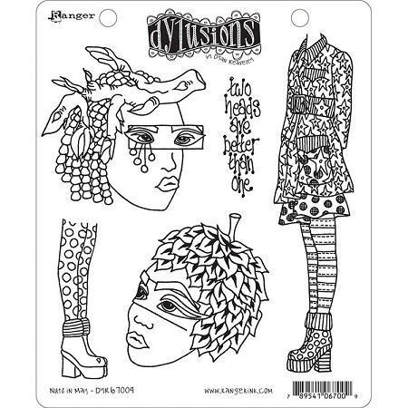 Dylusions - Cling Rubber Stamps - Nuts In May