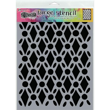 "Ranger - Dylusions Stencil - Fancy Floor Large (9""x12"")"