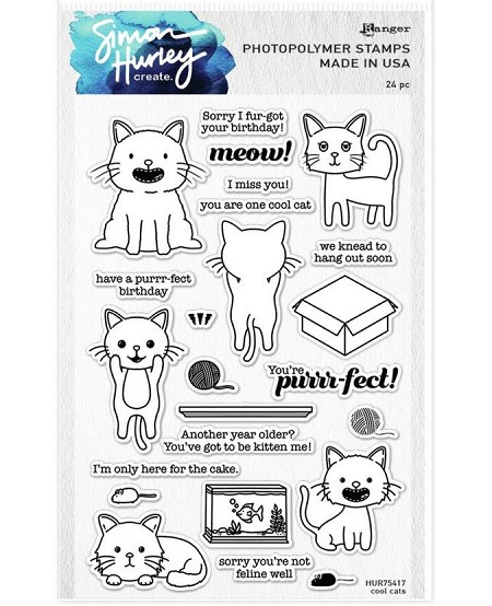 Ranger - Simon Hurley Clear Stamp - Cool Cats