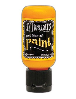Ranger - Dylusions Acrylic Paint - Pure Sunshine - by Dyan Reaveley