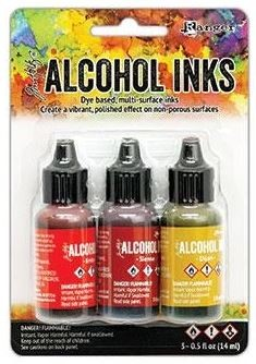 Ranger - Tim Holtz Alcohol Ink - Orange/Yellow Spectrum Kit