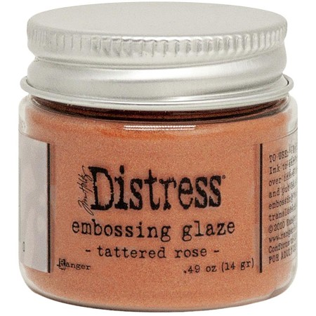 Ranger - Tim Holtz Distress Embossing Glaze - Tattered Rose