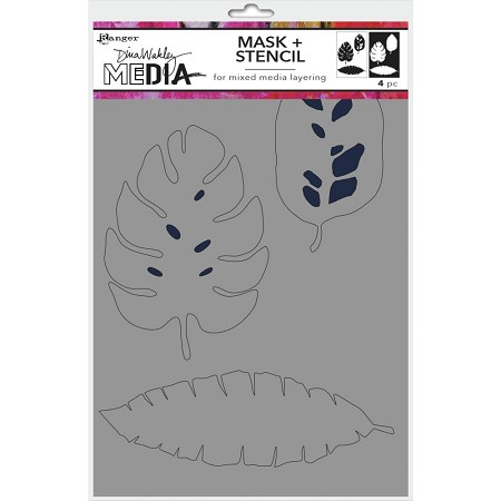 "Ranger - Dina Wakley Media Stencil - Tropical with mask (6""x9"")"