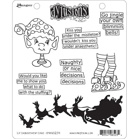 Dylusions - Cling Rubber Stamps - Elf Improvement Class