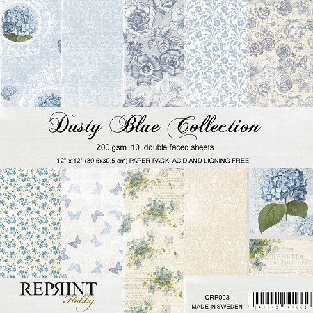 Reprint - Dusty Blue 12x12 collection kit