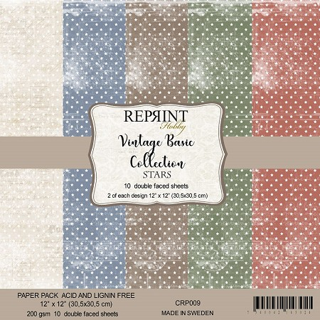 Reprint - Vintage Basic Stars 12x12 collection kit