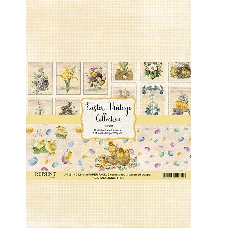 Reprint - Easter Vintage Collection A4 paper pack