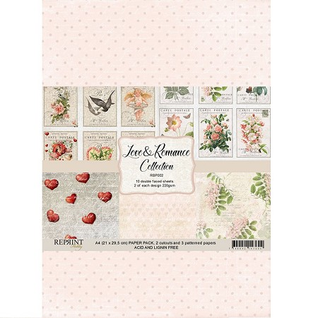 Reprint - Love & Romance Collection A4 paper pack
