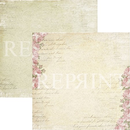 Reprint - Music and Roses Rose Garden 12x12 cardstock