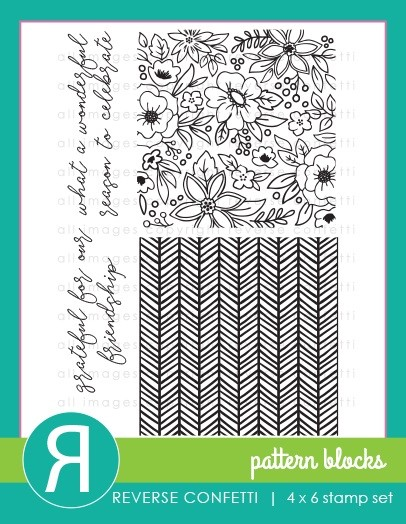 Reverse Confetti - Clear Stamps - Pattern Blocks