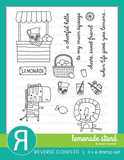 Reverse Confetti - Clear Stamps - Lemonade Stand