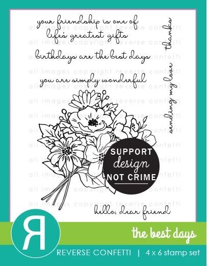 Reverse Confetti - Clear Stamps - The Best Days