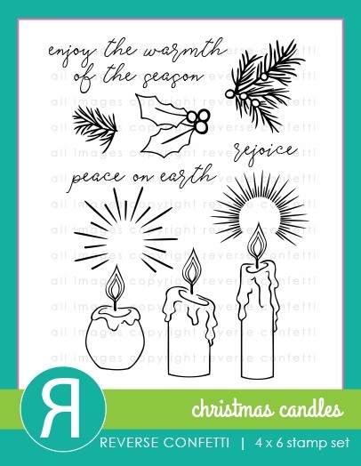 Reverse Confetti - Clear Stamps - Christmas Candles