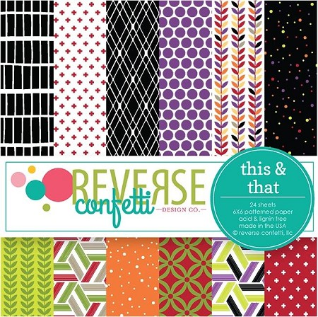 "Reverse Confetti - 6""x6"" Paper Pad - This and That"