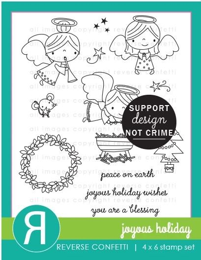Reverse Confetti - Clear Stamps - Joyous Holiday