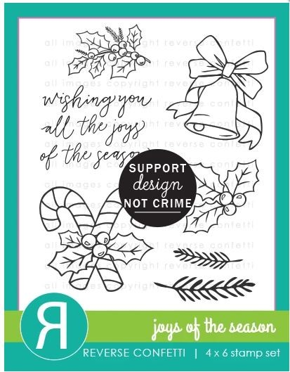 Reverse Confetti - Clear Stamps - Joys of the Season