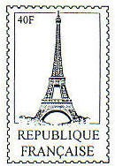 Rubber Stamp Avenue-Cling Stamp-Eiffel Tower Post