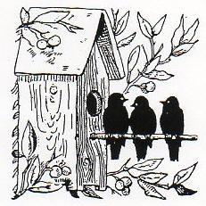 Rubber Stamp Avenue-Cling Stamp-Birdhouse