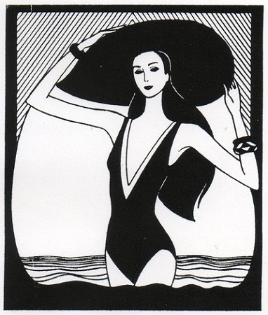 Rubber Stamp Avenue-Cling Stamp-Woman in Bathing Suit
